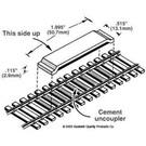 Kadee #321 Track Magnetic Uncoupler Code100, Kadee HO