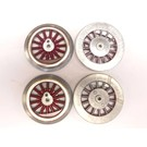 Model Engineering Works MS1000 Steam Wheel Set for McCoy Std Gauge, 6:32, Red Spoke