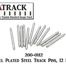 USA Track LLC 200-0112 Nickel Plated Std/O Gauge Steel Track Pins, 12 Pcs.