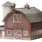 Woodland Scenics 5865 Old Weathered Barn, O Scale