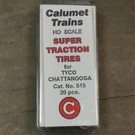 Calumet No.515 Super Traction Tires, Tyco HO, 20Pcs.