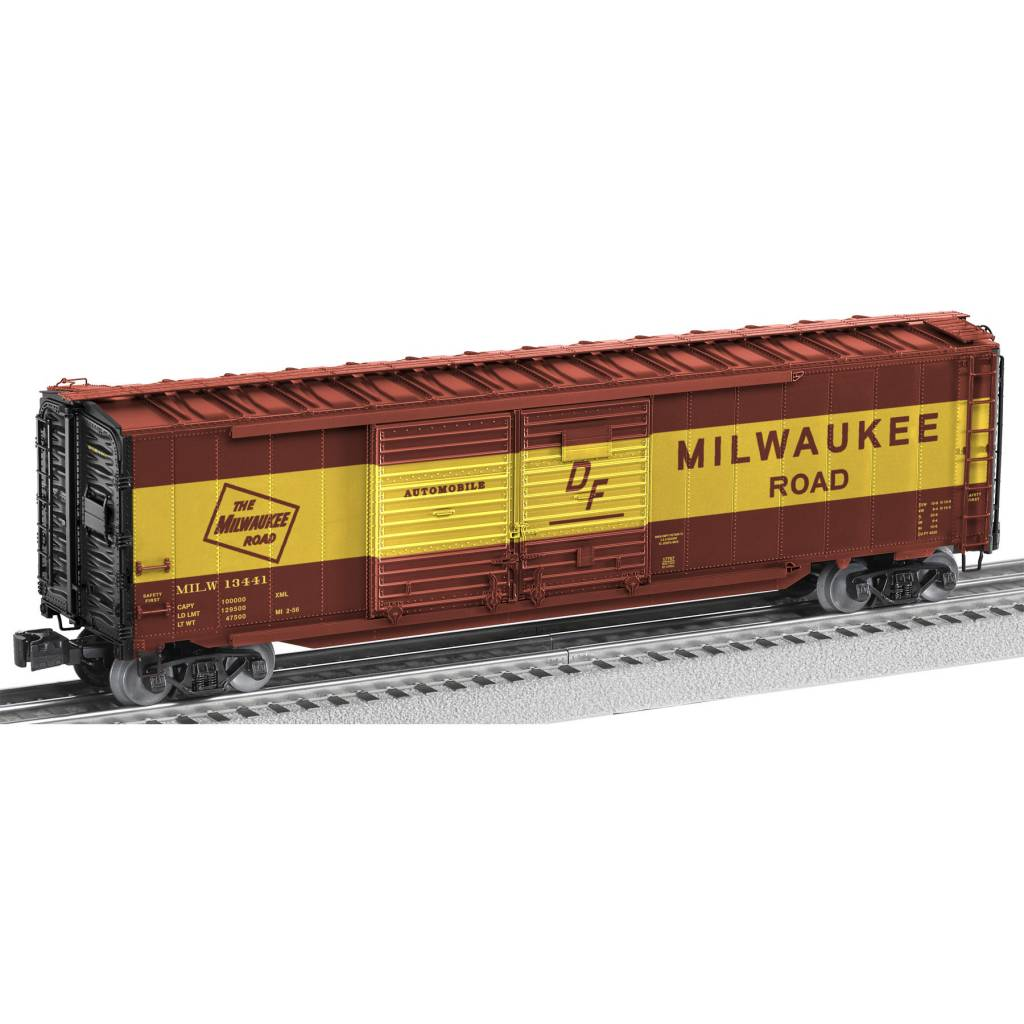 6 17757 Milwaukee Road Scale 50 Double Door Boxcar With