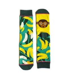 Woven Pear Monkey Business Socks
