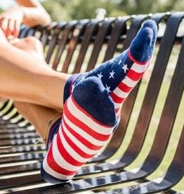 Woven Pear American Flag Ankle Sock