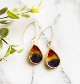 No Man's Land Artifacts Rainbow Raindrop Brass Earrings