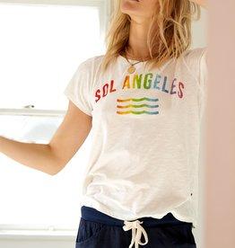 Sol Angeles Rainbow Sol Crew - White