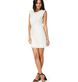Cupcakes and Cashmere Keren White Eyelet Dress