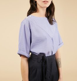 FRNCH Calina Blue Top
