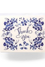 Antiquaria Blue Wildflower Thank You Card