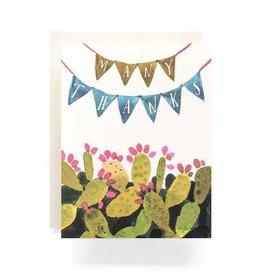Antiquaria Cactus Pennant Thanks Card