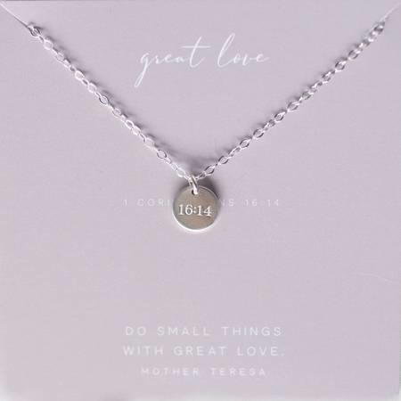 Dear Heart Designs Great Love - Sterling Silver Necklace