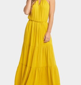 Johana Yellow Curry Maxi Dress