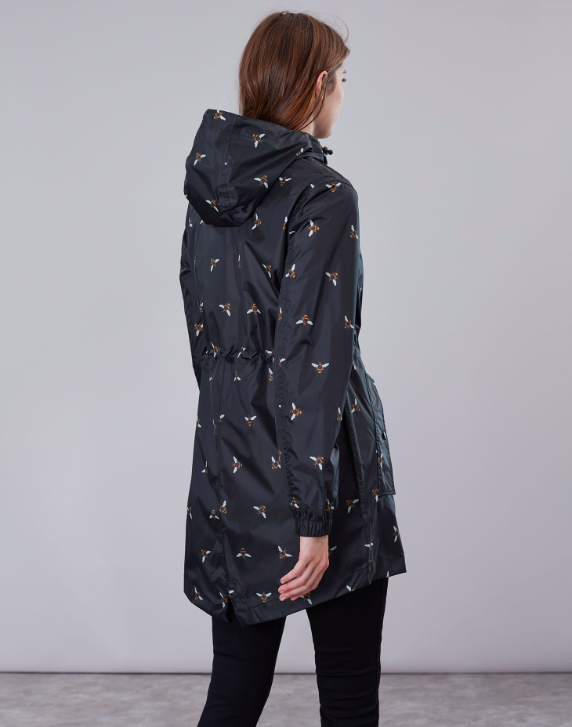 Joules Golightly Print Waterproof Packaway Jacket