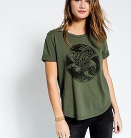 Sol Angeles Military Green Eagle Side Slit Top