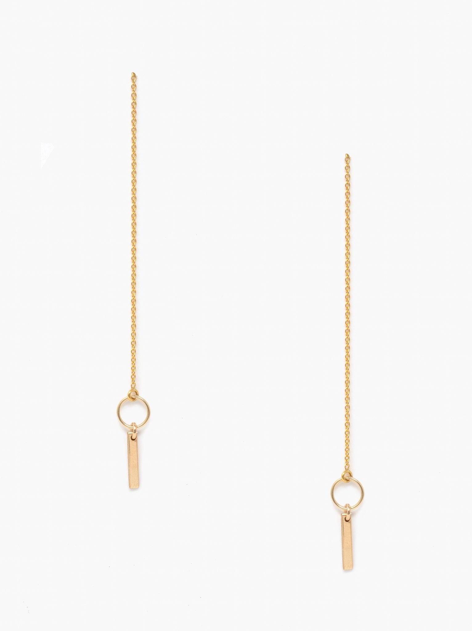 Able Gold-fill Apollo Threader Earrings