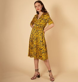 FRNCH Abelone Yellow Woven Dress