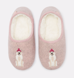 Joules Gold Dog Slippers