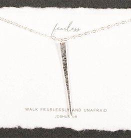 Dear Heart Designs Fearless Sterling Silver Necklace