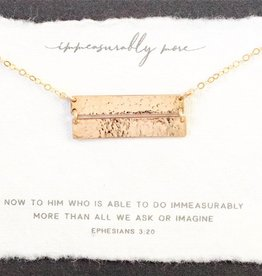 Dear Heart Designs Immeasurably More 14kt Gold Necklace
