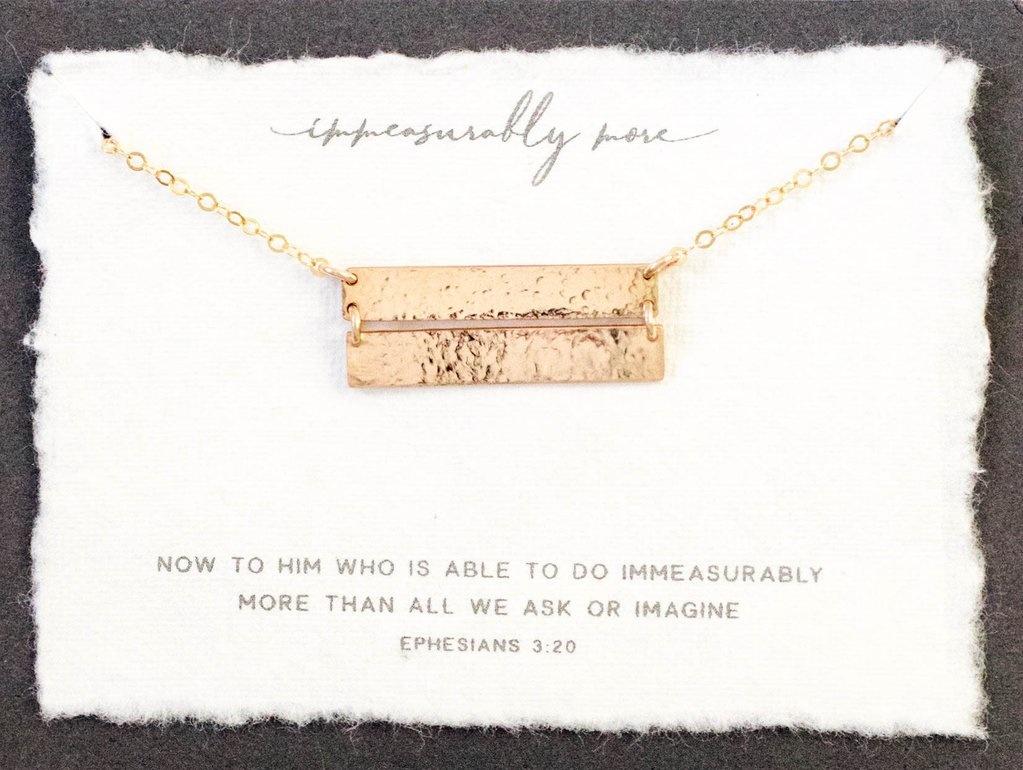 Dear Heart Designs Immeasurably More 14kt Gold Necklace