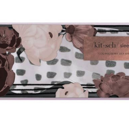 Kitsch Lavender Dot Silk Eye Mask with Print