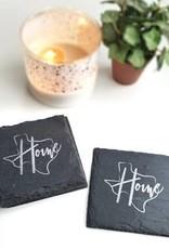 Cheers Ink Texas Home Slate Coaster