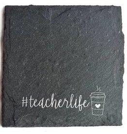 Cheers Ink Teacher Life Coffee Slate Coaster