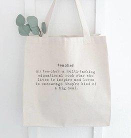 Indigo Tangerine Teacher Canvas Tote Bag