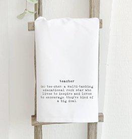 Indigo Tangerine Teacher Definition Tea Towel
