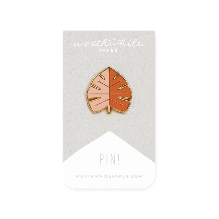Worthwhile Paper Monstera Leaf Pin