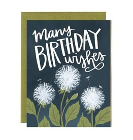 One Canoe Two Dandelion Birthday Card