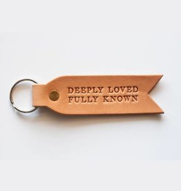 Dear Heart Designs Deeply Loved Fully Known Key Fob