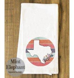 Mint Elephant Apparel Circle TX Tea Towels