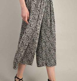 Mittoshop Leopard Pleated Wide Legs Pants