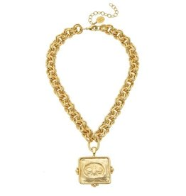 Susan Shaw Gold Bee Necklace