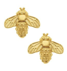 Susan Shaw Gold Bee Stud Earrings