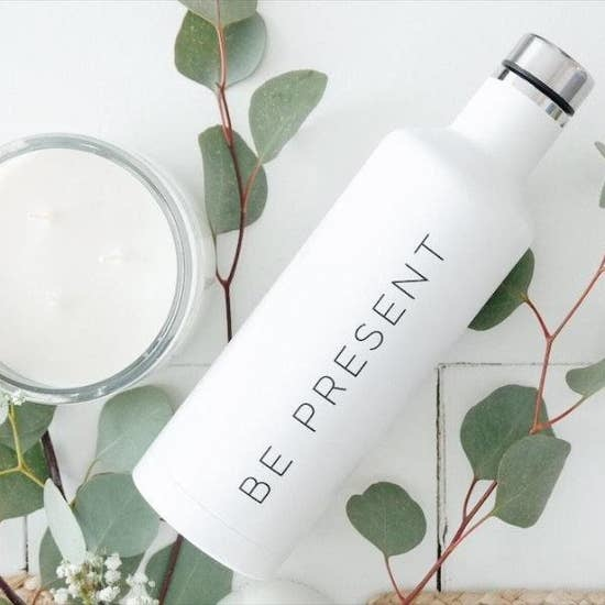 AllyBeth Design Co. Be Present Water Bottle