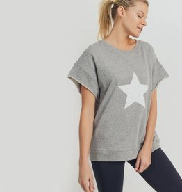 Mono B Antiqued Solo Star Terry Sweatshirt