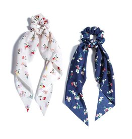 Shiraleah Floral Scarf Pony Tail Holders