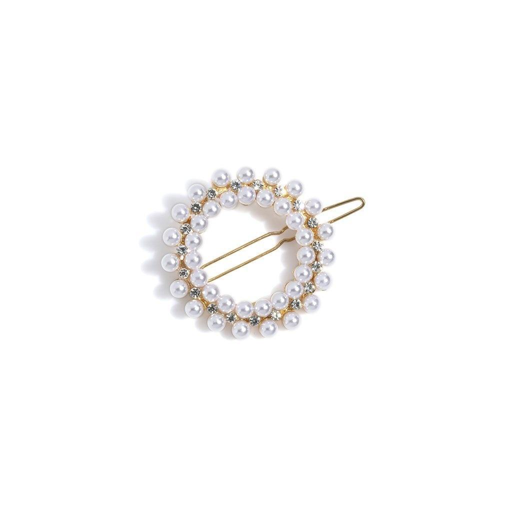 Shiraleah Pearl Circle Hair Clip