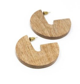 Rover & Kin Mango Wood Disc Earrings