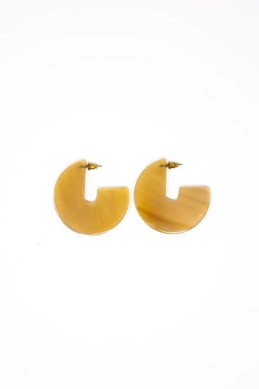 Rover & Kin Horn Disc Earrings