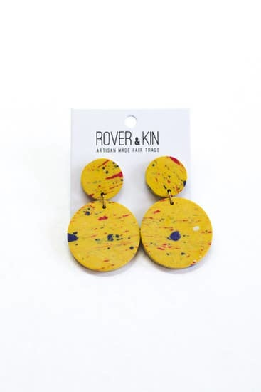 Rover & Kin Yellow Confetti Clay Earrings