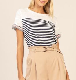 Skies Are Blue Camel Belted Pleated Shorts