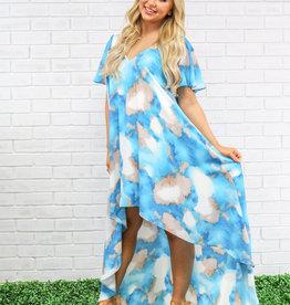 Peace Love Cake Ariel Saphire Skies Hi Low Dress