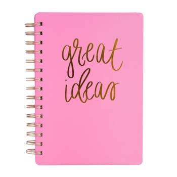 Sweet Water Decor Great Ideas Pink Spiral Notebook