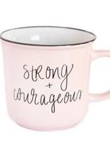 Sweet Water Decor Strong & Courageous Campfire Coffee Mug