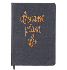 Sweet Water Decor Dream Plan Do Grey & Rose Gold Fabric Journal