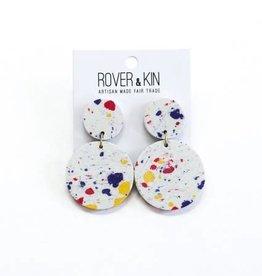 Rover & Kin White Confetti Clay Earrings