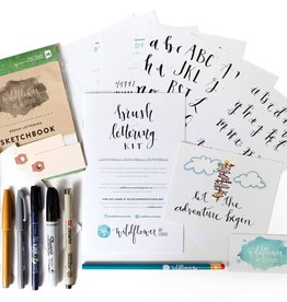 Wildflower Art Studio Brush Lettering Kit